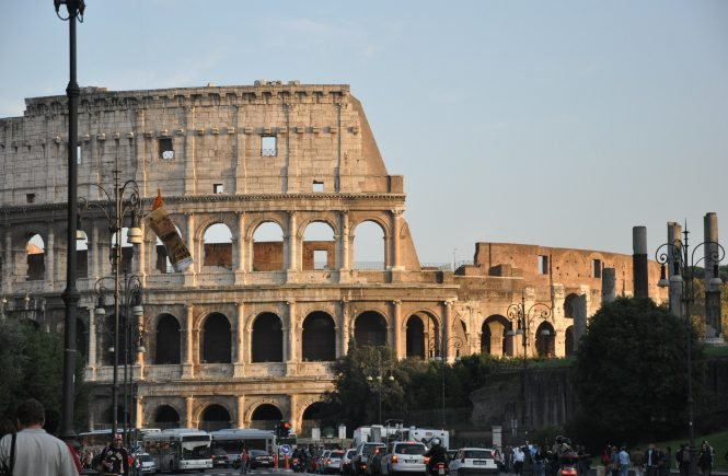 Now you can go to the top level of the Colosseum in Rome