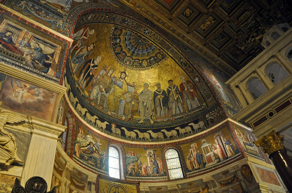 The Basilica of Santa Maria in Trastevere, one of my favorite churches in Rome