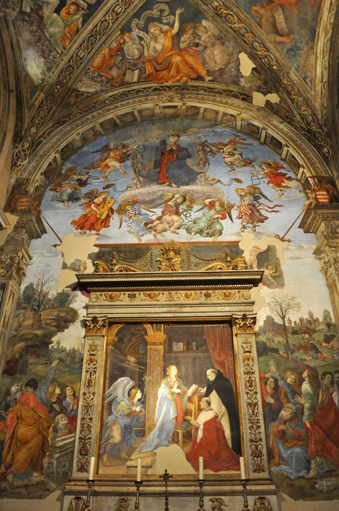 frescoes by Filippino Lippi in Santa Maria Sopra Minerva