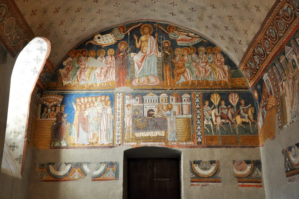 Frescoes in the Chapel of St Sylvester in one of my favorite Rome churches