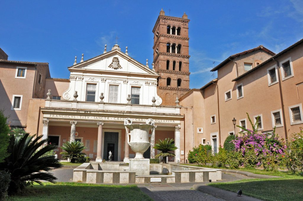 The Church of Santa Cecilia in Trastevere, a favorite church in Rome