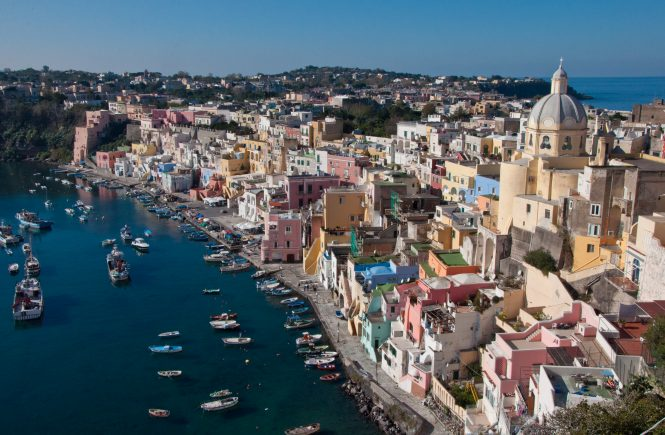 The island of Procida, one of the best islands near Rome