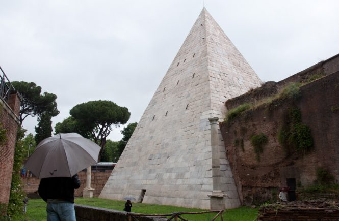 The pyramid of Rome, also called Pyramid of Cestius