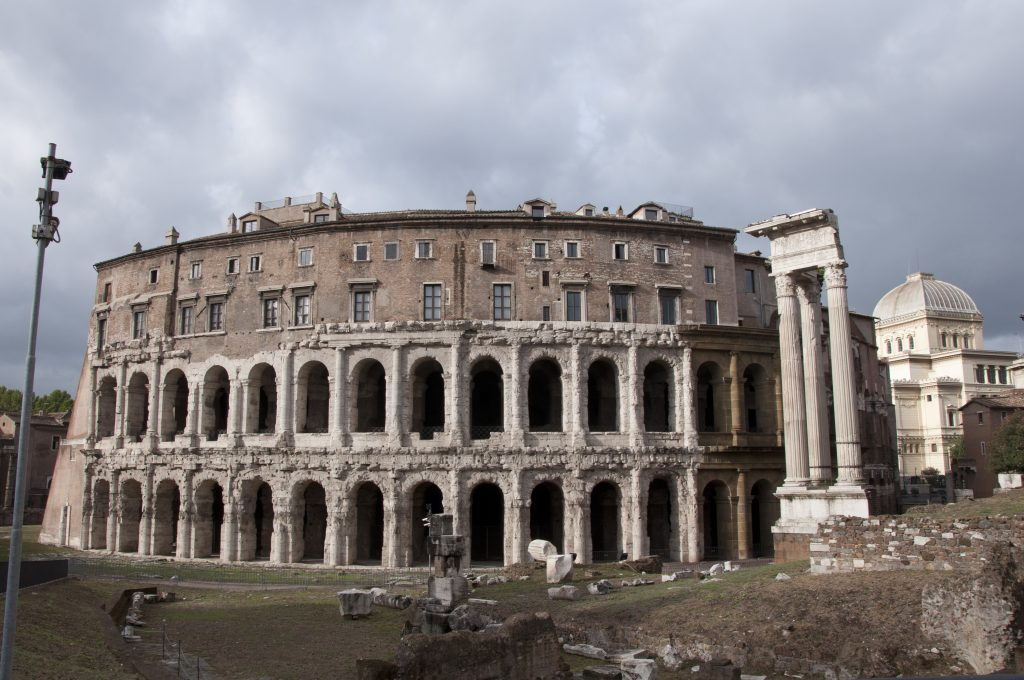 The theatre of Marcellus, one of the best sights to see in the Jewish Ghetto Rome
