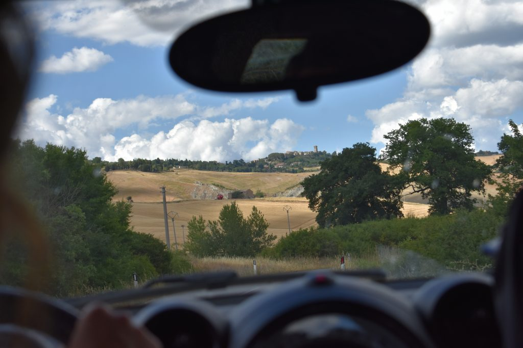 Beautiful view in Italy for post on driving in Italy tips