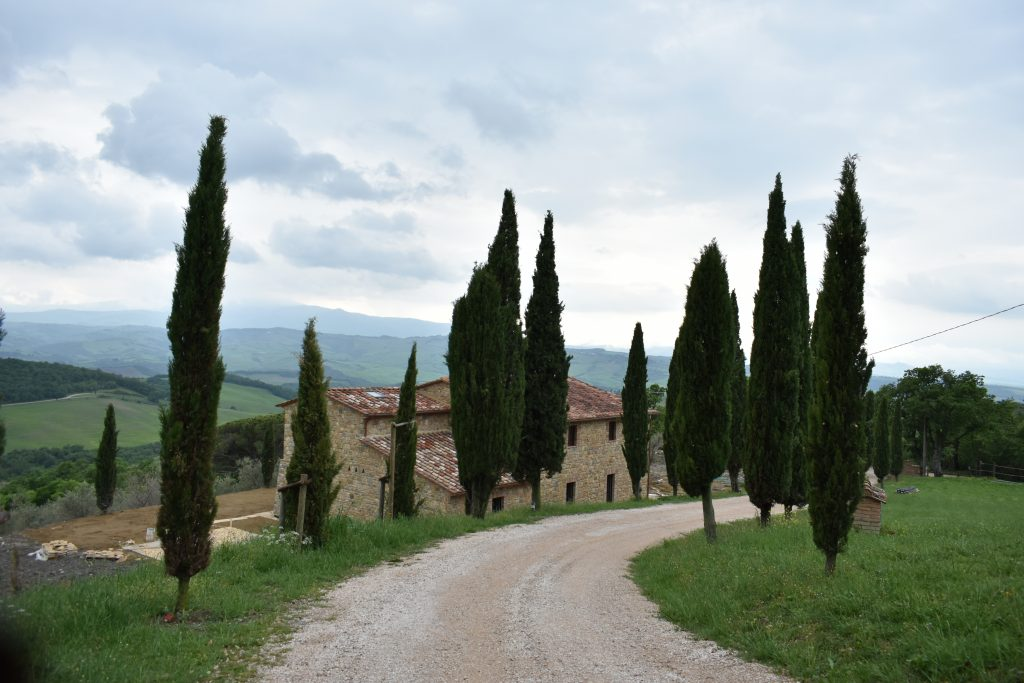 A rural road in Tuscany for driving in Italy tips post