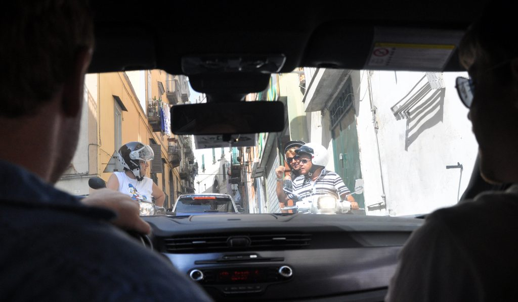 A road in Naples - driving in Italy tips